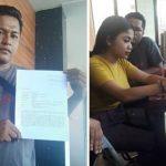 Anak Agung Radha Sita Dewi bersama ayahnya melaporkan penyebar video wik wik ke polisi.