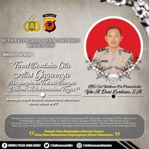 Anggota Polri di Kabupaten Purwakarta Jawa Barat yang gugur mengamankan Pemilu 2019 (ist)