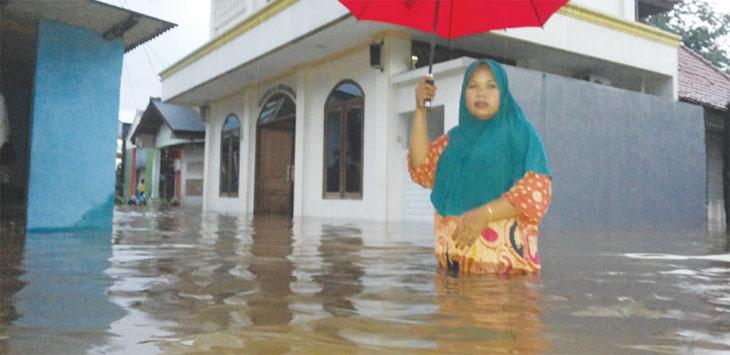 Ilustrasi Banjir di Depok