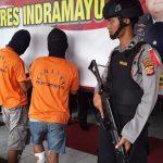 Polres Indramayu hadirkan tiga pelaku curanmor. Yanto/pojokjabar