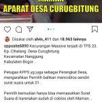 Foto viral yang beredar di Instagram soal kecurangan di TPS 23 Desa Curugbitung Bogor (ist)