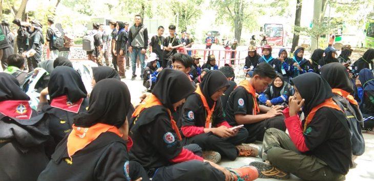 Ratusan pelajar dan mahasiswa se-wilayah III Cirebon ikuti quarry open day. Kirno/pojokjabar