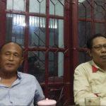 Ketua DPC Partai Gerindra Kota Cirebon, Eman Sulaeman (baju biru). Yan/pojokjabar