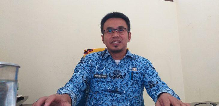 Novi Hendrianto, Kepala Bidang Pengadaan, Pemberhentian dan Informasi pada BKPSDM Kabupaten Cirebon. Ghofar/pojokjabar
