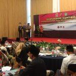 Polres Cirebon menggelar silaturrahmi dengan seluruh komponen pasca pemungutan suara Pemilu 2019. Kirno/pojokjabar
