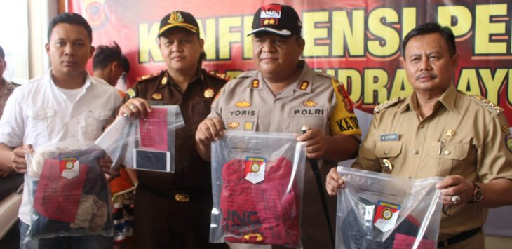 Konferensi pers Polres Indramayu, pengungkapan kasus pemerkosaan. Yanto/pojokjabar