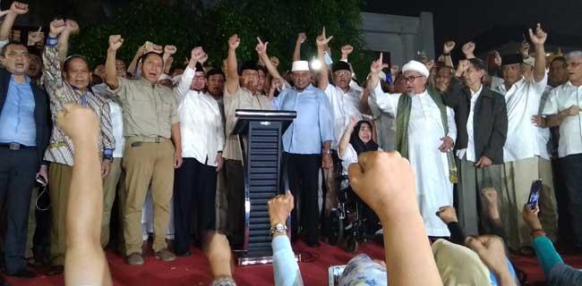 Prabowo Subianto umumkan menangi Pilpres 2019 (ist)