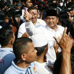 Prabowo saat mencoblos di Bojongkoneng Kabupaten Bogor (rishad)