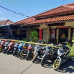 Sebanyak 15 sepeda motor yang belum sempat dijual pelaku begal di Indramayu (ist)
