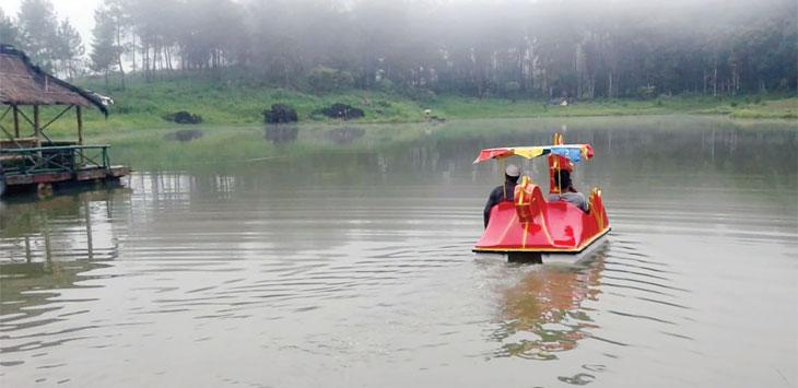 Objek wisata alam Dewa Dewi Cipiit, Desa Tanjungsari, Kecamatan Jampangtengah, sepi pengunjung selama musim hujan ini. Ist