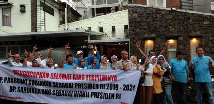 Syukuran Kemenangan Prabowo-Sandi./Foto: RMol