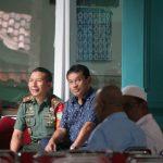 ASN, camat, TNI terlihat menyambut kepulangan Rahmat Yasin di Dramaga Bogor (rishad)