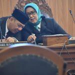 Bupati dan Wakil Bupati Bogor duduk berdampingan (rishad)