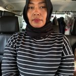 Emak emak perekam penggal kepala Jokowi yang ditetapkan tersangka (ist)