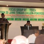 Rektor IAIN Syekh Nurjati Cirebon Dr H Sumanta Hasyim M.Ag saat memberikan sambutan. Alwi/pojokjabar