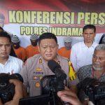 Kapolres Indramayu AKBP M. Yoris M.Y Marzuki saat memberikan keterangan. Yanto/pojokjabar