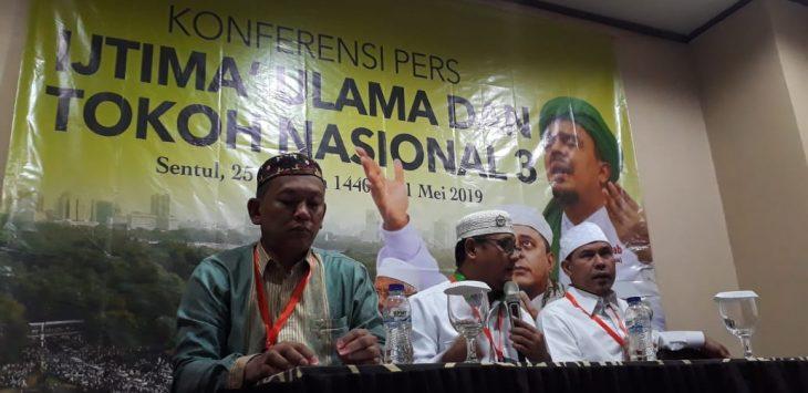 Konferensi pers Ijtima Ulama III di Sentul Kabupaten Bogor (rishad)