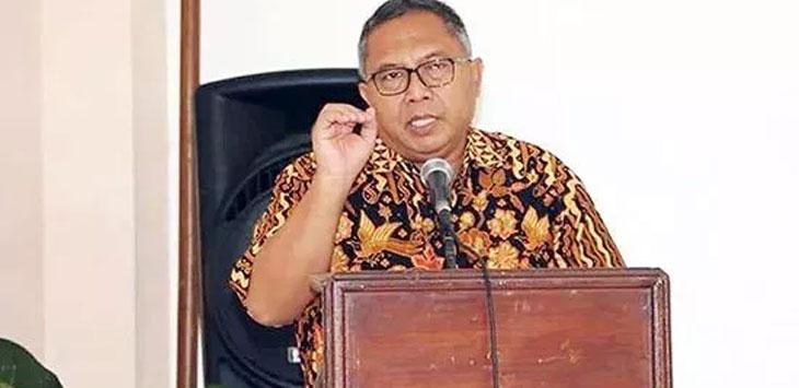 Bupati Sukabumi, Marwan Hamami saat memberikan sambutannya dalam Rapat Koordinasi Penanggulangan Kemiskinan Daerah di Pangrango, Kecamatan Sukabumi, Jum'at (24/5/19). Ist