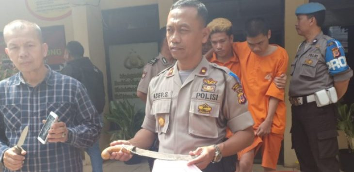 Polsek Kiaracondong ekspose kasus perampokan di Bandung, Rabu (29/5/2019)./Foto: Istimewa