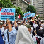Protes Pemilu 2019 di depan Bawaslu Jakarta. Aksi protes pemilu berlangsung di beberapa daerah di Indonesia (ist)