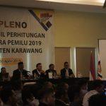 Rapat Pleno KPU di Kabupaten Karawang