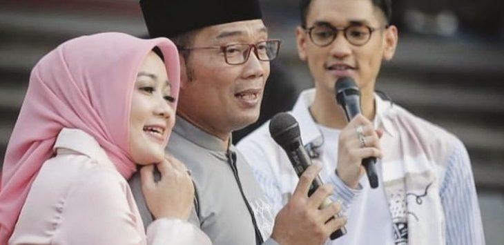 Ridwan Kamil mesra dengan istrinya./Foto: Istimewa