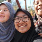 Salsabila saat menjadi volunteer di Islamic Center