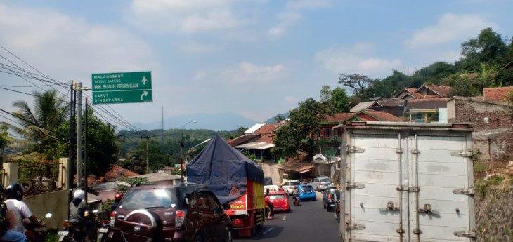 Situasi lokasi dari Nagreg ke Limbangan./Foto:  Arief