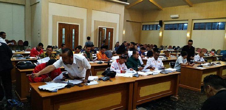 Rekapitulasi Suara di KPU Kabupaten Sukabumi./Foto: Rmol