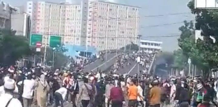 Suasana saat kerusuhan Jakarta pada aksi 22 Mei (ist)