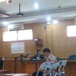 Sunjaya saat berada di Pengadilan Tipikor Bandung
