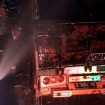 Truck terbakar