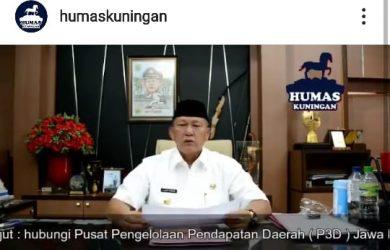 Tangkapan layar cuplikan video Bupati Kuningan. Ahmad/pojokjabar