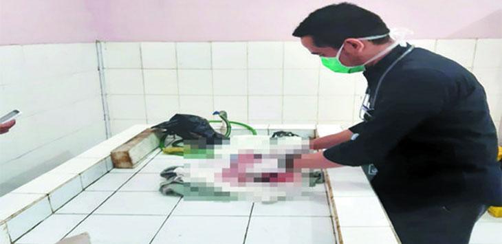 Bayi berjenis kelamin perempuan saat dievakuasi di RSUD Sekarwangi, Rabu (19/6/19). Ist