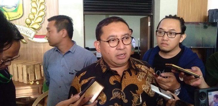 Fadli Zon  usai menghadiri Sidang Paripurna Istimewa Hari Jadi Bogor (HJB) ke-357, Rabu (12/6/2019)./Foto: Rishad