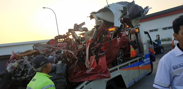 Kecelakaan di Tol Cipali, Senin (17/6/2019) dini hari./Foto: Istimewa