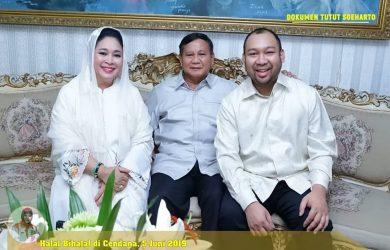 Momen Lebaran Prabowo bersama Titiek Soeharto dan anaknya (instagram)