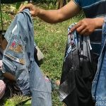 Pakaian korban bocah tenggelam di Situ Cipule Karawang (ist)