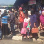 Penumpang di Terminal Sukabumi