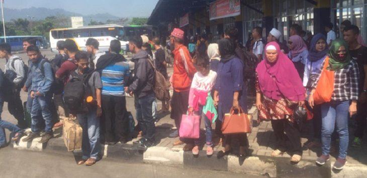 Penumpang di Terminal Sukabumi./Foto: Rmol