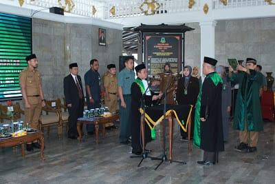 Wabup hadiri pisah sambut kepala PA Kuningan. Ahmad/pojokjabar
