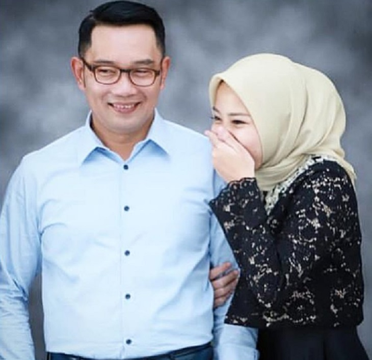 Ridwan Kamil dan anak gadisnya, Zara