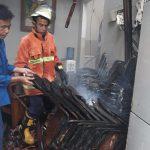 Rumah caleg DPR RI Iyet Rahmawati di Bukit Cimanggu City yang terbakar (ist)