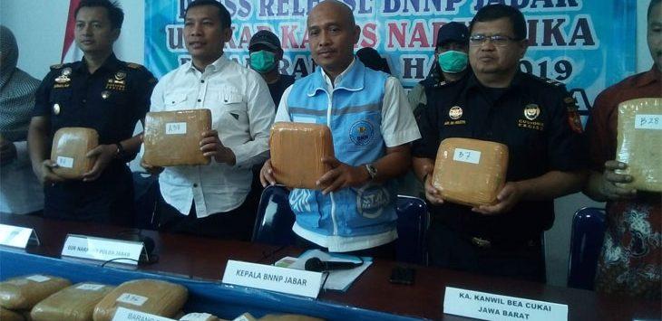169 KG Ganja Asal Aceh Diamankan BNNP Jabar