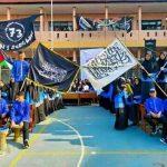Bendera tauhid yang dikibarkan siswa MAN 1 Sukabumi (ist)