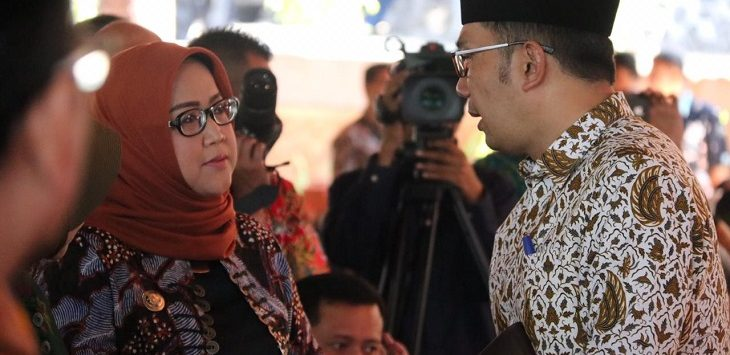 Bupati Bogor Ade Yasin dan Gubernur Jabar Ridwan Kamil./Foto: Rishad