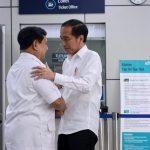 Jokowi dan Prabowo bertemu di Stasiun MRT Lebak Bulus (fb)
