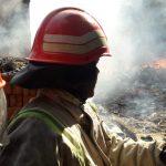 Petugas pemadam kebakaran sedang melakukan pemadaman. Kirno/pojokjabar