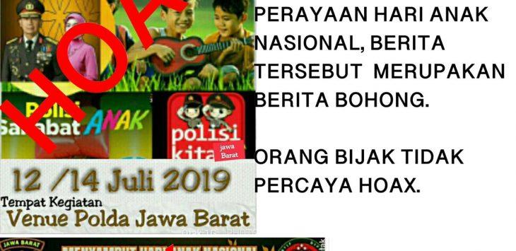 Kegiatan Hari Anak Nasional tingkat Jawa Barat oleh Polda Jabar (ist)