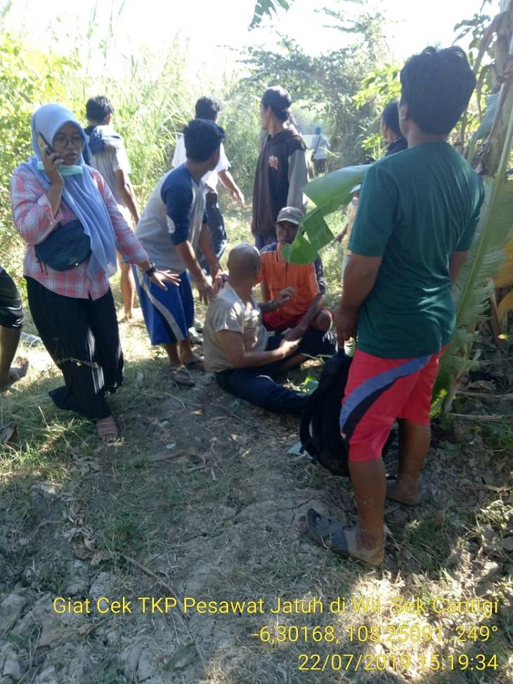 Lokasi pesawat Cessna jatuh di Indramayu